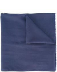 Écharpe en soie bleu marine Maison Margiela