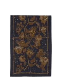 Écharpe en soie bleu marine Paul Smith