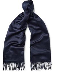 Écharpe en soie bleu marine Tod's