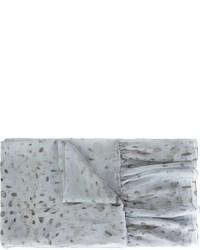Écharpe en soie bleue claire Agnona