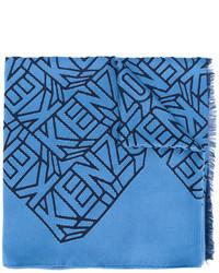 Écharpe en soie bleue Kenzo