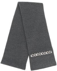 Écharpe en soie en tricot gris foncé No.21