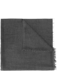 Écharpe en soie gris foncé Brunello Cucinelli