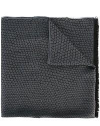 Écharpe en soie gris foncé Lanvin