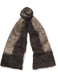 Écharpe en soie grise Balenciaga