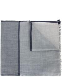 Écharpe en soie grise Brunello Cucinelli