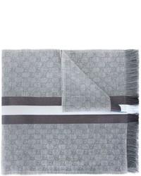 Écharpe en soie grise Gucci