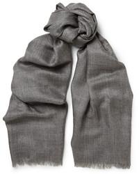 Écharpe en soie grise Loro Piana