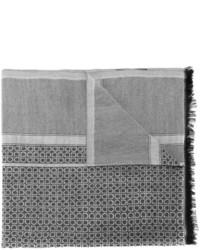 Écharpe en soie grise Salvatore Ferragamo