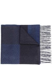 Écharpe en soie imprimé bleu marine Canali