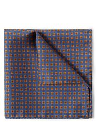 Écharpe en soie imprimé bleu marine J.Crew