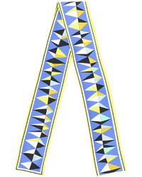 Écharpe en soie imprimée bleue claire Emilio Pucci