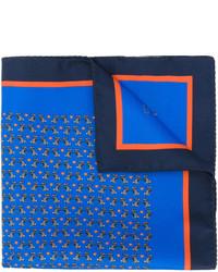 Écharpe en soie imprimée bleue Etro