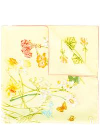 Écharpe en soie imprimée jaune Salvatore Ferragamo