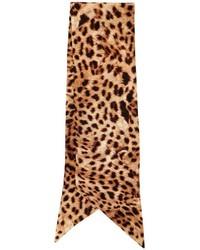 Écharpe en soie imprimée marron clair
