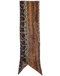 Écharpe en soie imprimée marron