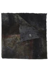Écharpe en soie imprimée noire Avant Toi