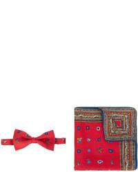 Écharpe en soie imprimée rouge Etro