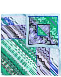 Écharpe en soie imprimée turquoise Missoni