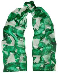 Écharpe en soie imprimée verte Dolce & Gabbana
