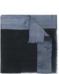Écharpe en soie noir Faliero Sarti
