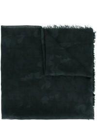 Écharpe en soie noir Valentino Garavani