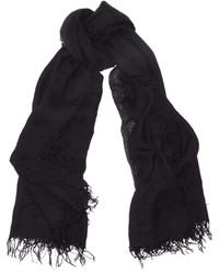 Écharpe en soie noire Chan Luu