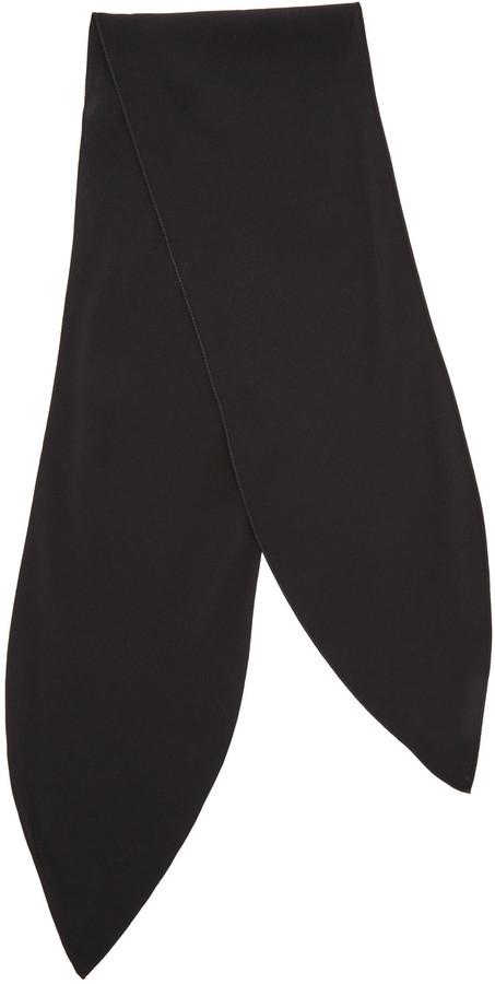 Écharpe en soie noire Chloé