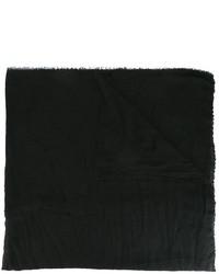 Écharpe en soie noire Faliero Sarti