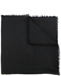 Écharpe en soie noire Fendi