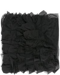 Écharpe en soie noire Giorgio Armani