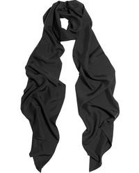 Écharpe en soie noire Lanvin