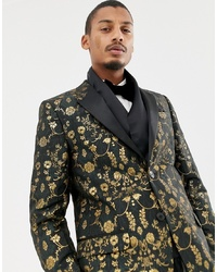 Écharpe en soie noire Twisted Tailor