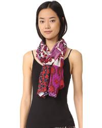 Écharpe en soie violette Diane von Furstenberg