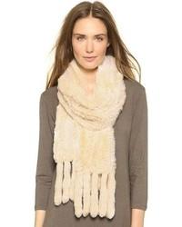 Écharpe en tricot beige Adrienne Landau