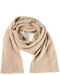 Écharpe en tricot beige Inverni