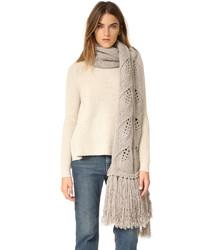 Écharpe en tricot beige Lela Rose