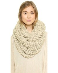 Écharpe en tricot beige Paula Bianco