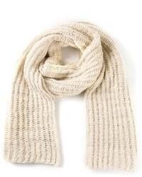 Écharpe en tricot beige The Elder Statesman