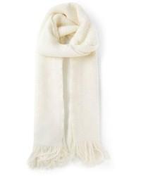 Écharpe en tricot blanche Giorgio Armani