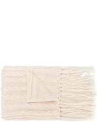 Écharpe en tricot blanche Twin-Set