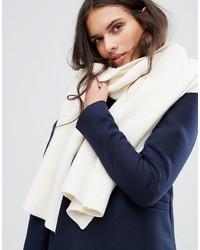 Écharpe en tricot blanche Vila