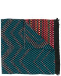 Écharpe en tricot bleu canard Missoni