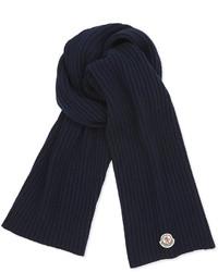 Écharpe en tricot bleu marine