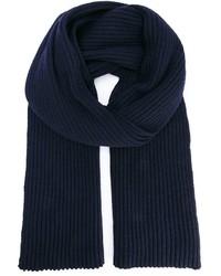 Écharpe en tricot bleu marine Ann Demeulemeester
