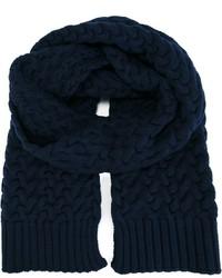 Écharpe en tricot bleu marine Dolce & Gabbana
