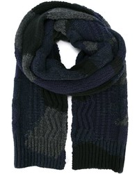 Écharpe en tricot bleu marine Valentino