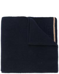 Écharpe en tricot bleu marine Versace
