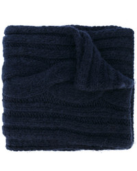 Écharpe en tricot bleue marine Maison Margiela