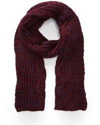 Écharpe en tricot bordeaux